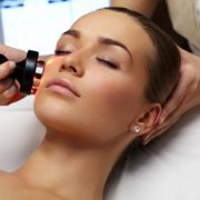 A woman having a IPL laser treatment